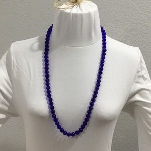 Jewelry - Blue Glass beaded necklace 31 inches length